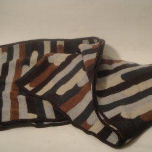 Missoni Sciarpe Geometric Pattern Wool Knit Scarf